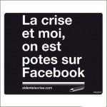 TAPIS DE SOURIS NOIR LA CRISE POTES SUR FACEBOOK